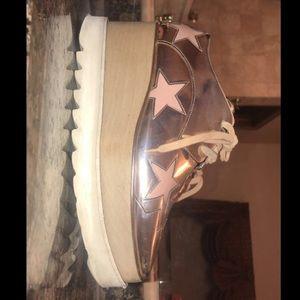 Stella McCartney Elyse Rose gold Platform Shoe